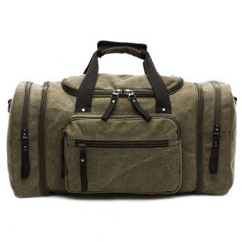Canvas Multi Zippers Weekend Bag