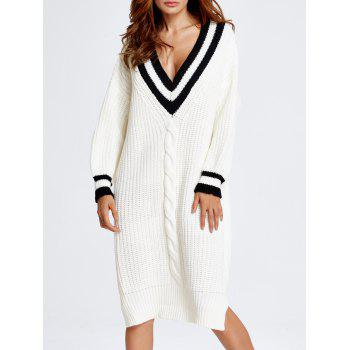 Outdoor Chanvre Fleurs Cricket Sweater Dress