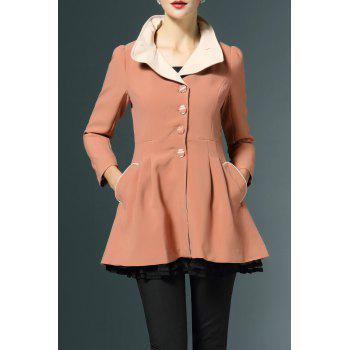 Layered Fitting Skirted Coat