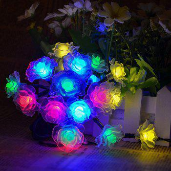 4.8M Christmas Rose Solar Power LED String Light Party Decoration