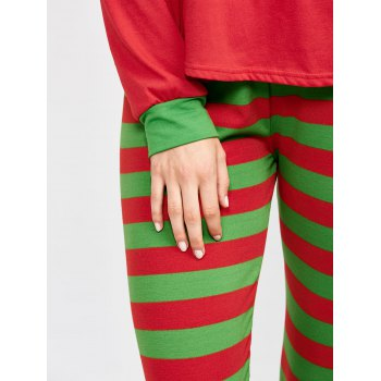 Two Tone Striped Loungewear Suit - M M