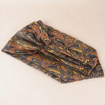 Paisley Floral Square Pocket Hanky and Cravat -  BROWN