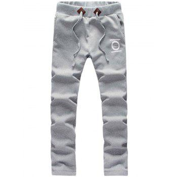 Zip Up Printed Graphic Hoodie et Sweatpants Twinset - Gris clair M