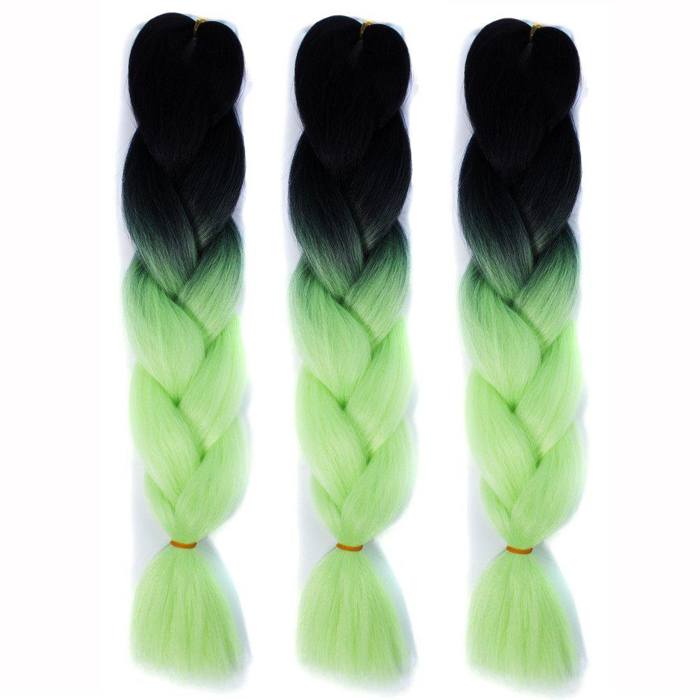Heat Resistant Fiber 1 Pcs Multicolor Braided Hair Extensions