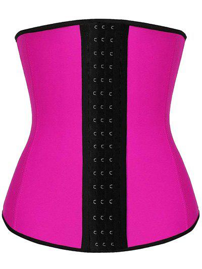 Steel Strapless Tight Waist Training Corset - ROSE RED M