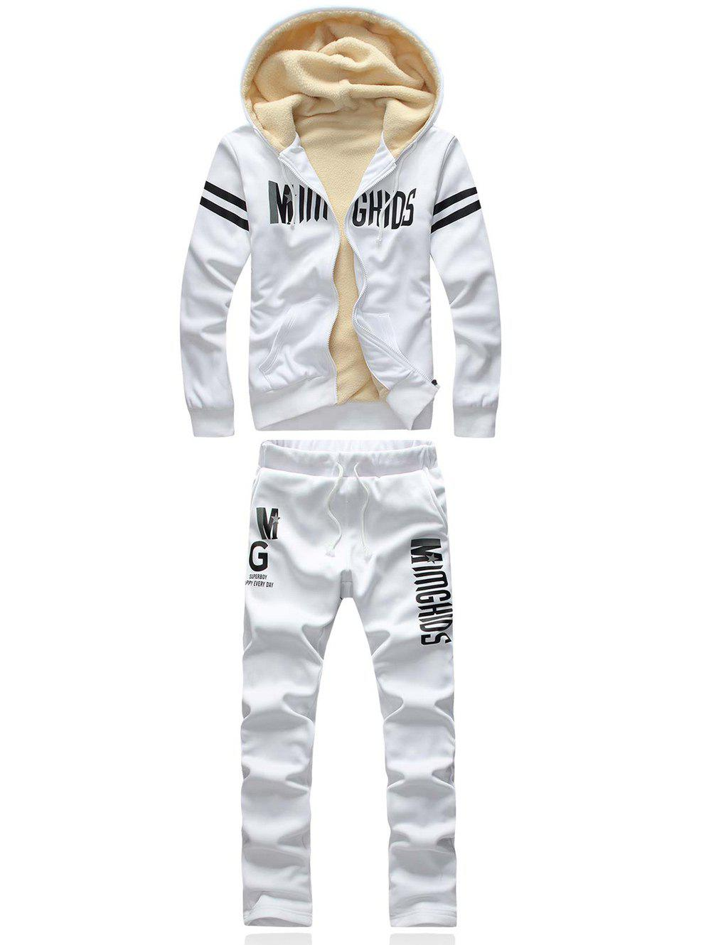 Varsity Stripe Printed Hoodie and Sweatpants Twinset 1 pair health care foot acupoint massager flat slippers for male female