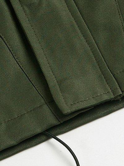 Zipper Design Hooded Thicken Cotton Jacket - ARMY GREEN L