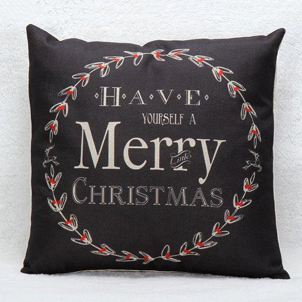 Household Merry Christmas Wreath Pillow Case merry christmas grass cushion throw pillow case