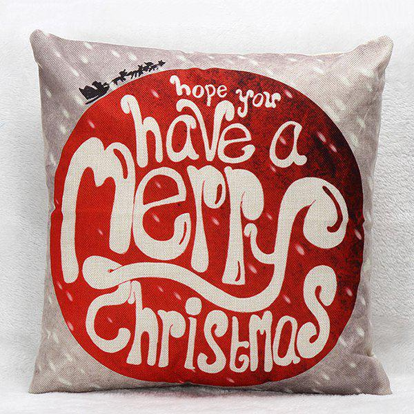 Merry Christmas Household Sofa Pillow Case merry christmas grass cushion throw pillow case