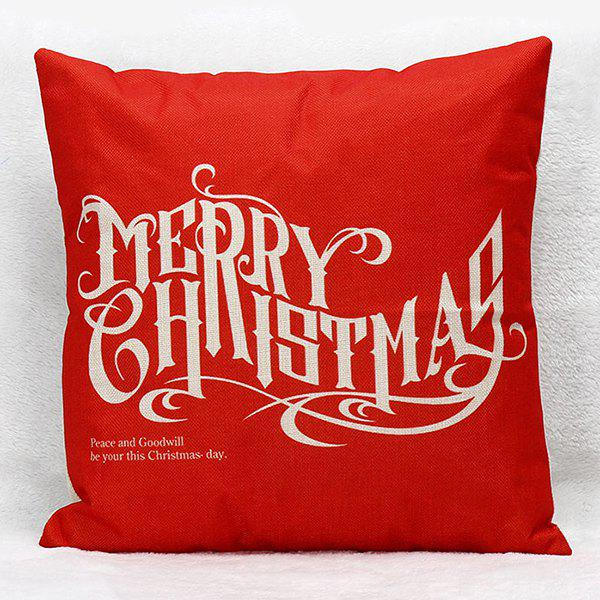 Merry Christmas Letters Household Sofa Pillow Case merry christmas grass cushion throw pillow case