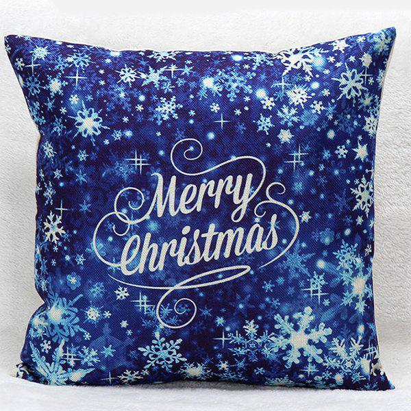 Merry Christmas Snow Household Sofa Pillow Case