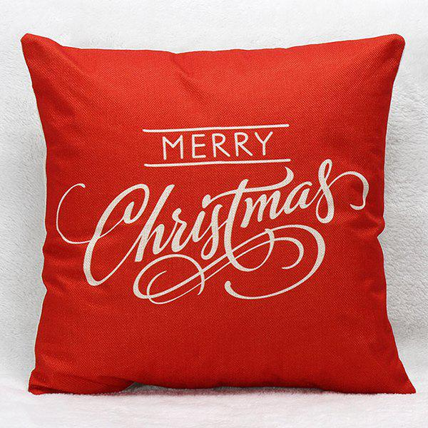 Merry Christmas Letters Sofa Pillow Case merry christmas deer printed sofa decorative pillow case