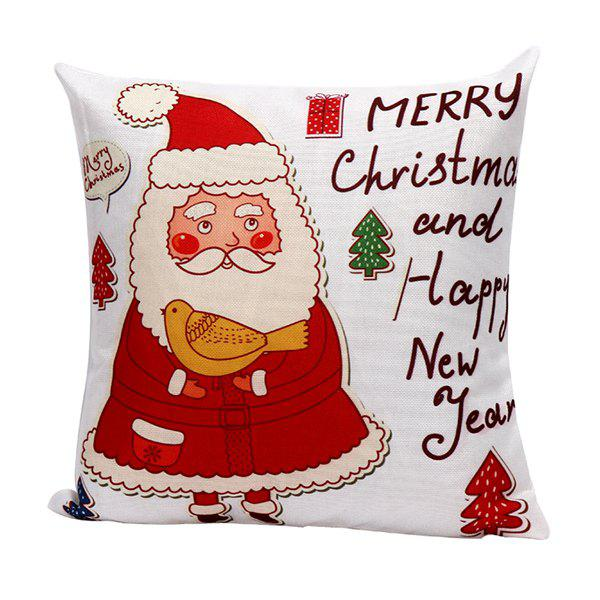 Household Cartoon Santa Claus Pillow Case santa claus deer cushion throw pillow case