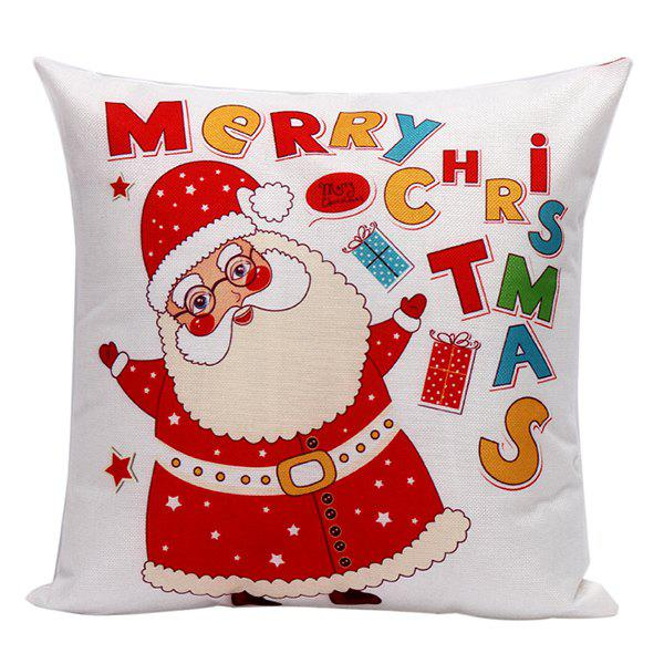 Household Cartoon Glasses Santa Claus Pillow Case santa claus deer cushion throw pillow case