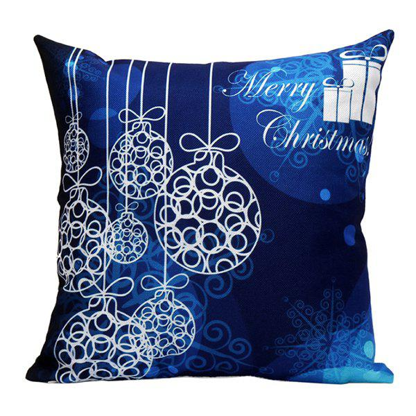 Merry Christmas Printed Sofa Pillow Case handpainted pineapple and fern printed pillow case