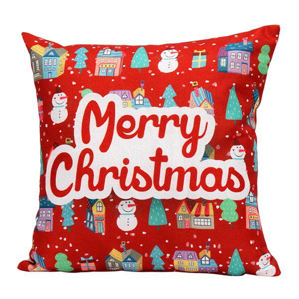 Merry Christmas Series Printed Sofa Pillow Case merry christmas grass cushion throw pillow case