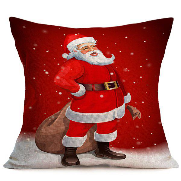 Christmas Santa Claus Sofa Decor Pillow CoverHome<br><br><br>Color: RED