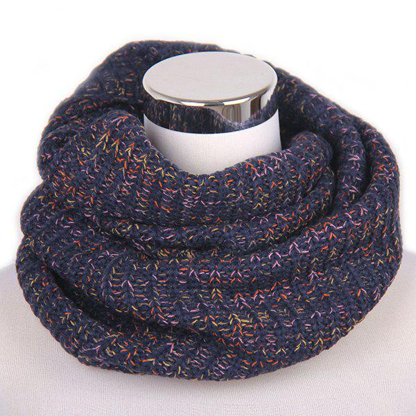 Color Mixed Knitted Infinity Scarf rosicil consumer cap knitted scarf