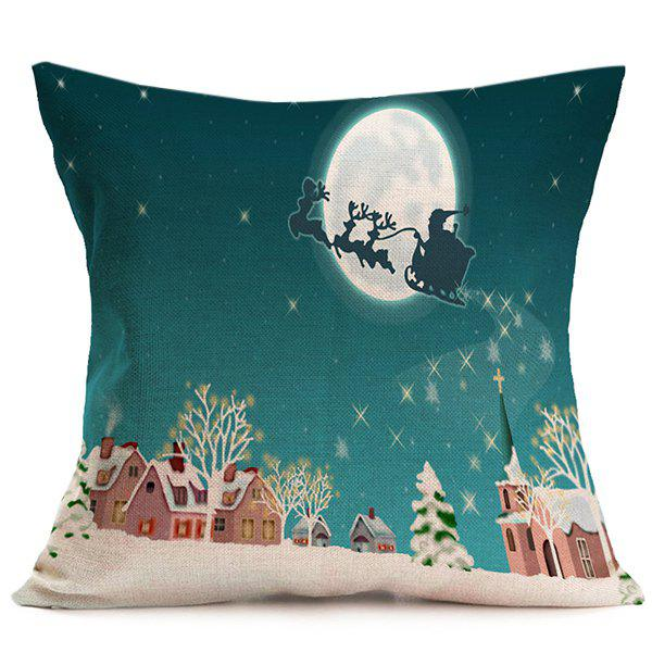 Merry Christmas Peaceful Night Cushion Throw Pillow Cover christmas sock linen cushion throw pillow cover