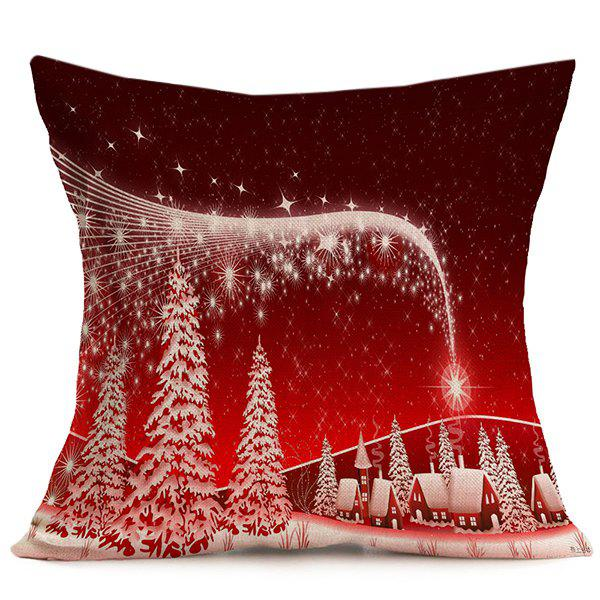 Merry Christmas Sofa Decor Linen Cushion Pillow Cover merry christmas grass cushion throw pillow case