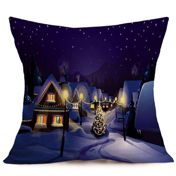 Peaceful Night Merry Christmas Cushion Throw Pillow Cover peaceful hooligan outline dove port
