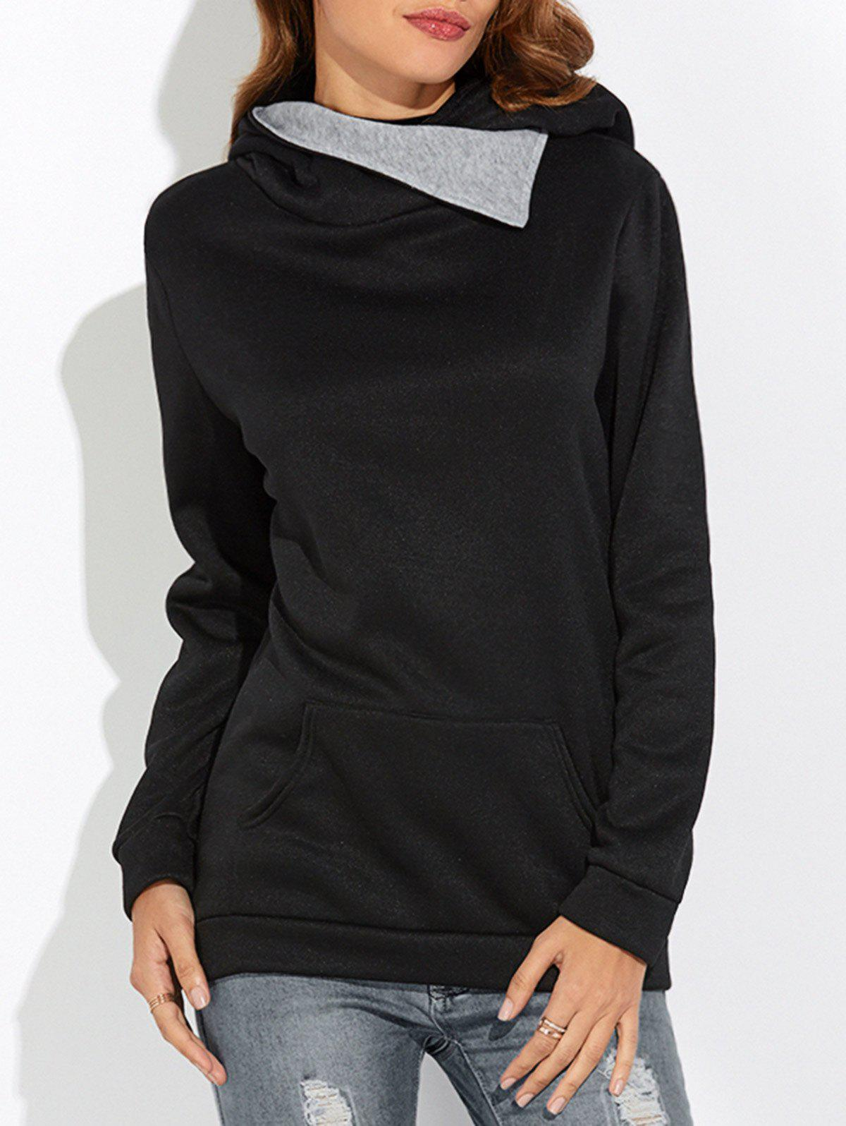 Jumper Hooded HoodieWomen<br><br><br>Size: 2XL<br>Color: BLACK