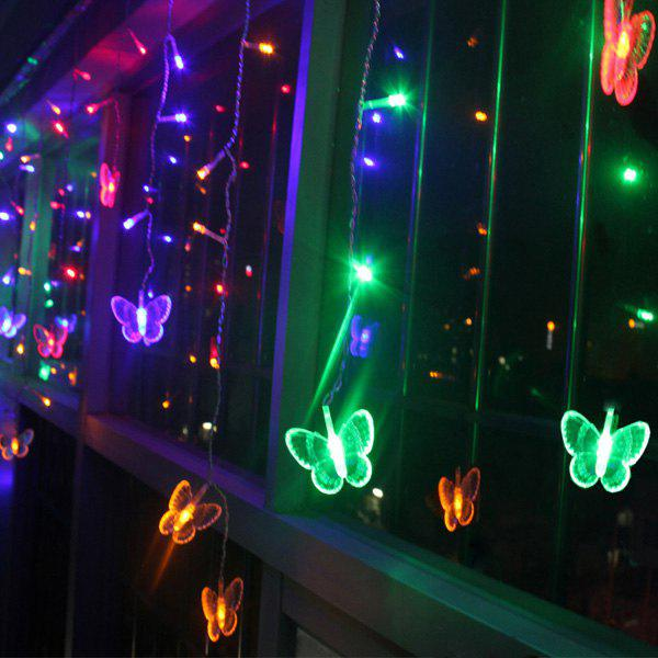 Christmas Butterfly Hanging LED String Light Festival Room Decor - COLORFUL