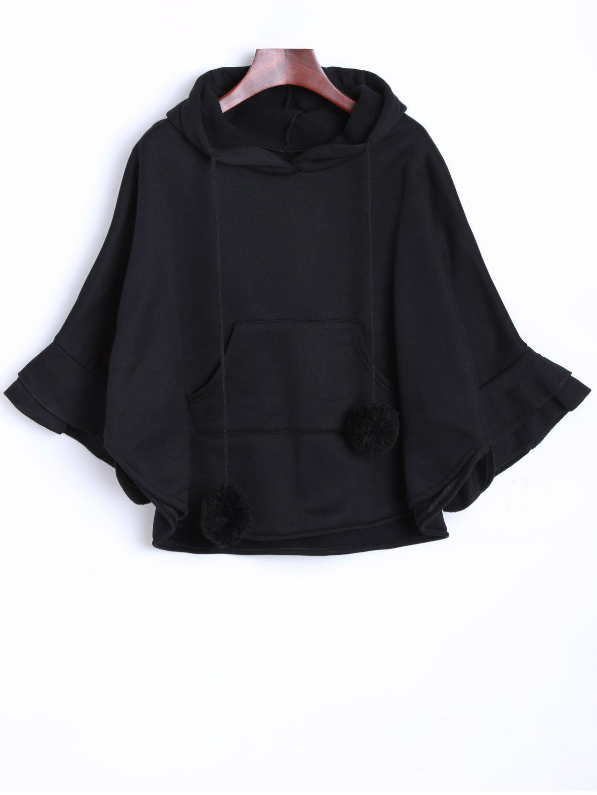 Pocket Pompon Hooded Poncho Cape от Dresslily.com INT