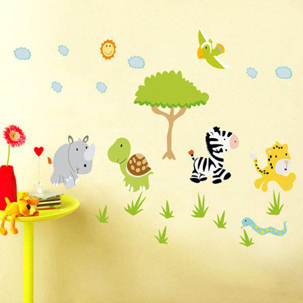 Animals Forest Cartoon Removeable Wall Sticker от Dresslily.com INT