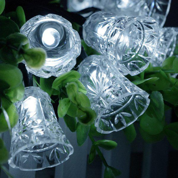 Christmas Bell Solar Power LED String Light Party Decoration - WHITE