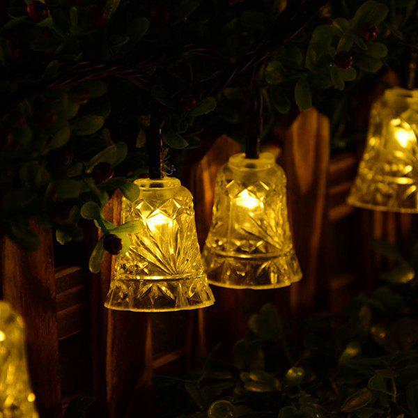 Christmas Bell Solar Power LED String Light Party Decoration - WARM WHITE LIGHT