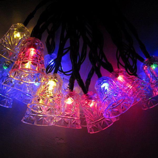 Christmas Bell Solar Power LED String Light Party DecorationHome<br><br><br>Color: COLORFUL