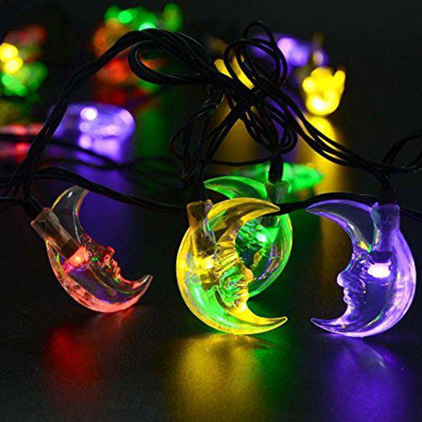 Party Decoration 4.8M Christmas Solar Power Moon LED String Light - COLORFUL