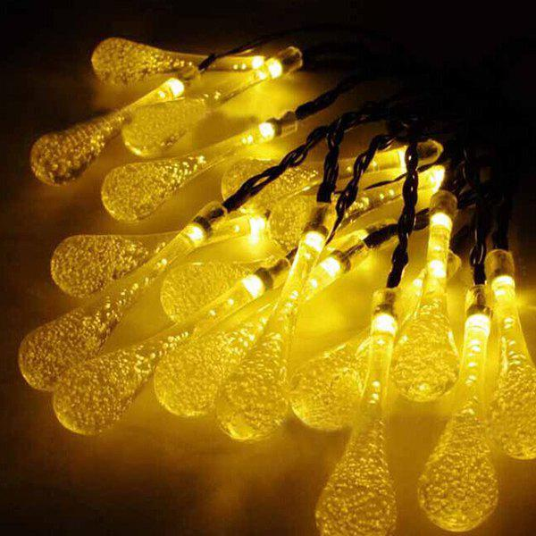 4.8M Christmas Waterdrop  Solar Power LED String Light - WARM WHITE LIGHT