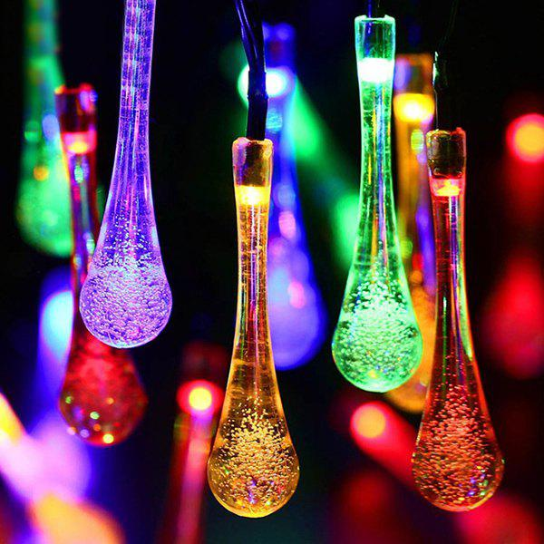 4.8M Christmas Waterdrop  Solar Power LED String Light - COLORFUL