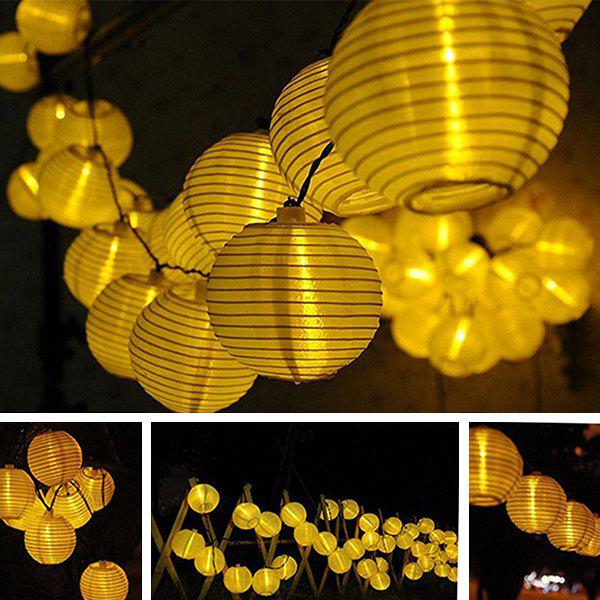 4.8M Christmas Solar Power LED Lantern String Light Decoration - WARM WHITE LIGHT
