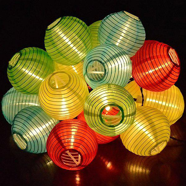4.8M Christmas Solar Power LED Lantern String Light Decoration - COLORFUL