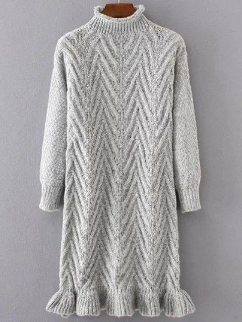 Chunky Pull Pull Long - Gris Clair ONE SIZE