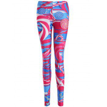 Skinny Lollipop Print Leggings