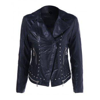 Rhinestone Slim Fit Biker Jacket