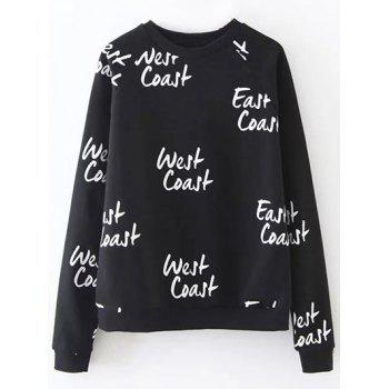 Westcoast Letter Loose Fitting Sweatshirt