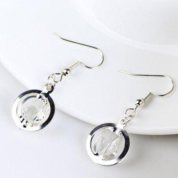 Faux Gem Circle Earrings