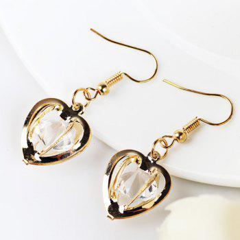 Faux Gem Heart Earrings
