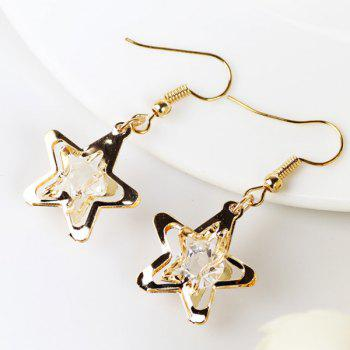 Faux Gem Star Earrings