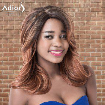 Adiors Medium Layered Ombre Side Parting Wavy Synthetic Wig