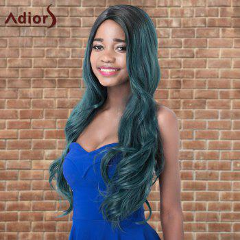 Adiors Side Parting Colormix Long Wavy Shaggy Synthetic Wig