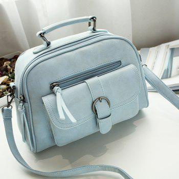 PU Leather Buckle Strap Handbag
