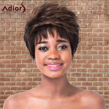 Fluffy Straight Short Highlights Synthetic Adiors Wig
