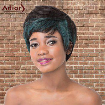 Fluffy Short Full Bang Mixed Color Straight Synthetic Adiors Wig
