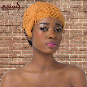 Double Color Short Full Bang Straight  Adiors Synthetic Wig